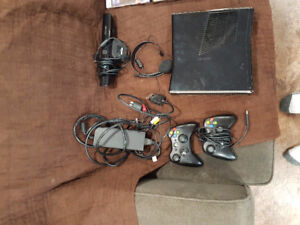 X Box 360 with Kinects & Two Controllers & Head Set & 41 Games