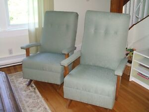 Two beautiful parlour rocking chairs