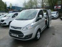 2017 17 FORD TRANSIT CUSTOM 2.0 290 LIMITED LR P/V 130BHP METALLIC SILVER ONE
