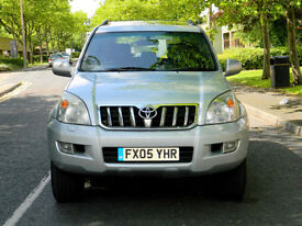 2005 Toyota Land Cruiser 3.0 D-4D LC5 5dr WITH S/H+SATNAV+LEATHER+SUNROOF++