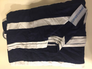 Car seat canopy (Navy & White) by Canopy Couture
