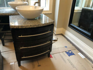 "Vanities 24"" Wide and 36"" Wide - Almost New Without Box"