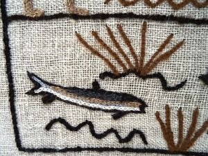 FOLK ART STITCHERY amish WORKING in the FIELDS fish duck SIGNED Kitchener / Waterloo Kitchener Area image 7