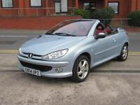 04 PEUGEOT 206CC 1.6 16V Cabriolet S + ONLY 71K MILES + RED/BLACK LEATHER