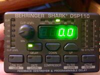 Behringer Shark DSP110 Preamp, Digital Delay, Compressor and Feedback Controller
