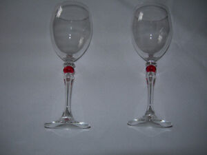 Wineglasses with Red Accent Kawartha Lakes Peterborough Area image 2