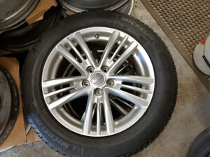 BNew 225 55 17 Michelin on OEM Infinity G37 alloys / TPMS