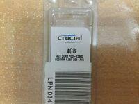Crucial 4GB DDR3 Memory