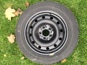 Gislaved Nordfrost 100 94T XL 205/55/16 (tires and steel rims) Kitchener / Waterloo Kitchener Area image 2