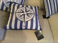 Four nautical theme cushions from Julian Charles Brand New
