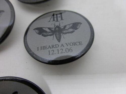 AFI I HEARD A VOICE 10 PIN BUTTONS PINBACKS RARE PROMO