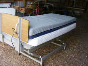 Hospital bed and mattress,tub or shower chair and walker