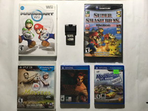 Video Games- GameCube, Wii, PS Vita, PS3, DSi Action Replay