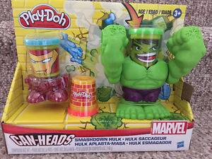 New! Play-Doh marvel can heads set Kitchener / Waterloo Kitchener Area image 1