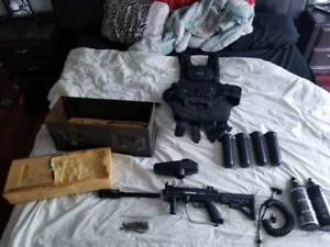 Full paintball setup