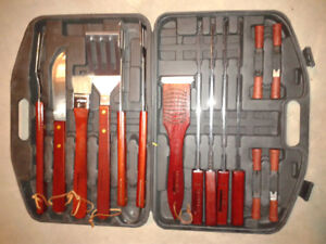Cooking Utensil Kit w Case - BBQ, Camping tools $25
