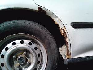 Car paint rust chip scratch or dent repair