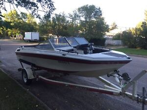 21 ft Lund fishing boat with 170hp Merc