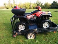 Arctic Cat 500 4x4 trailer and plow