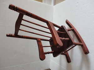 Handmade solid wooden decorative rocking chair for display London Ontario image 5