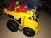 CAT Mega Blok Truck with Mega Bloks