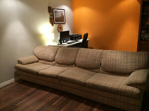 Very comfortable extra large couch (2 pieces)