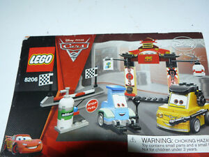 LEGO Disney Cars Movie Tokyo Pit Stop Set and Ferrarri - $50.00