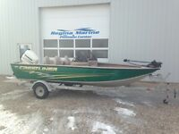 2003 Crestliner 1750 Fish Hawk with 90 Hp Evinrude