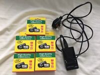 Job lot 5 Sony Handycam NP-F970 replacement batteries & Charger