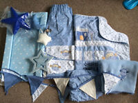 Next cheeky monkey cot set, curtains and bunting