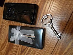 Wedding favours, prizes, give-aways. Heart Key Bottle opener