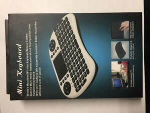 wireless mini keyboard and touch pad with rechargeable battery