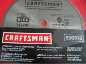"9"" craftsman saw blade 200 tooth New"