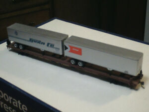 HO scale 85 foot flatcar with trailers