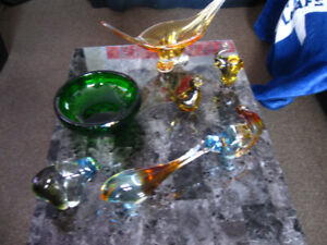 Blown Glass Ornaments - Collection $100