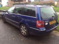 Breaking VW Passat b5.5 plus, blue estate 1.9tdi manual, leacher interior. For Spare Parts tm
