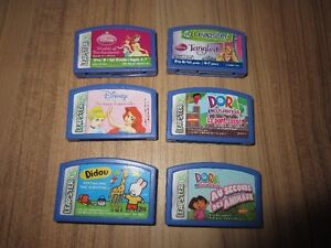 """FRENCH & ENGLISH """"LEAP FROG"""" LEAPSTER GAMES - $8.00 EACH"""