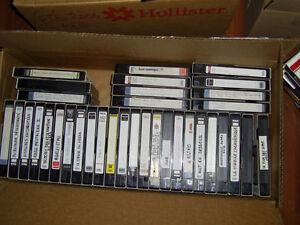 Lot de 70 cassettes VHS pré-enregistrées ou prêtes à enregistrer