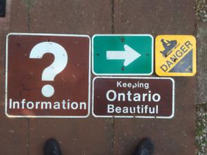 Vintage signs - Ontario highway 2