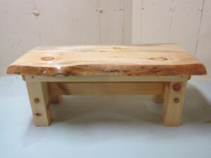 Pine live edge coffee table