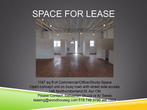 High Ceiling Open Concept Office Space on busy Street