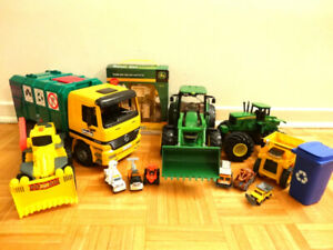 Bruder, John Deere, and Cars inc. Toy Vehicles & Painting set