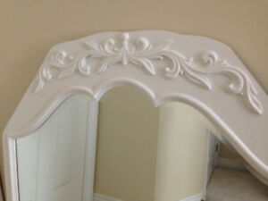 $65  For this ANTIQUE SCALLOPED BEVELLED GLASS Mirror