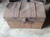Antique tin chest