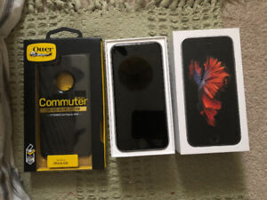 iPhone 6S 64gb Space Grey w/ commuter otter box