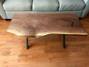 Live Edge Solid Walnut Coffee Table