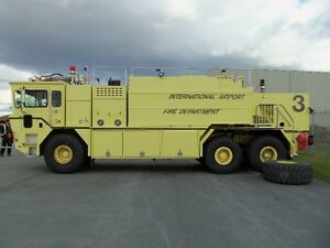 OSHKOSK 6X6 ARFF AIRPORT CRASH TRUCK FIRE