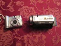 Canon camera and Sony camcorder