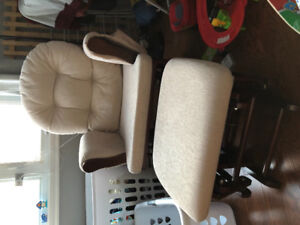 Rocking chair with ottoman baby