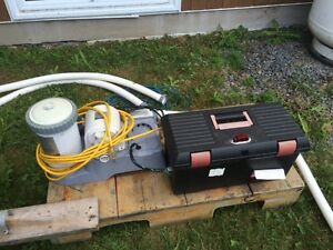 Intex 1500 gph pool pump and salt water chlorine generator